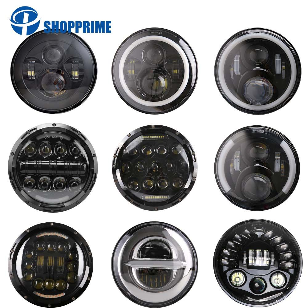 45W 7'' Led Headlight H4 H13 High Low Beam Round Cars Running Lights for Jeep Lada Niva 4x4