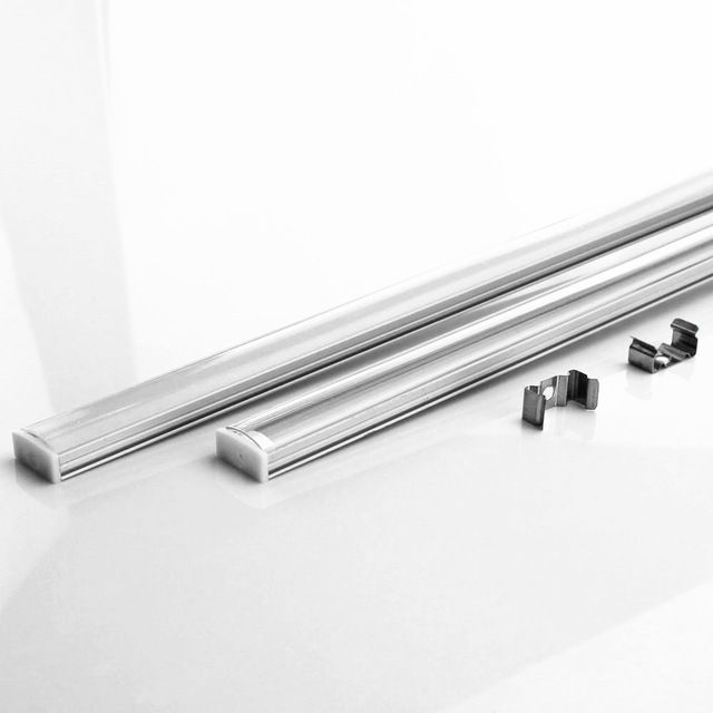 10-20PCS DHL 1m LED strip aluminum profile for 5050 5730 LED hard bar light led bar aluminum channel housing withcover end cover