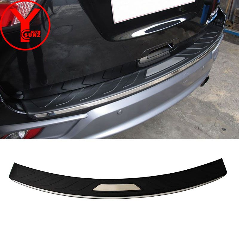 rear step bumper covers with LED light for isuzu mux mu-x 2017 2018 bumper protector truck car styling auto accessories YCSUNZ