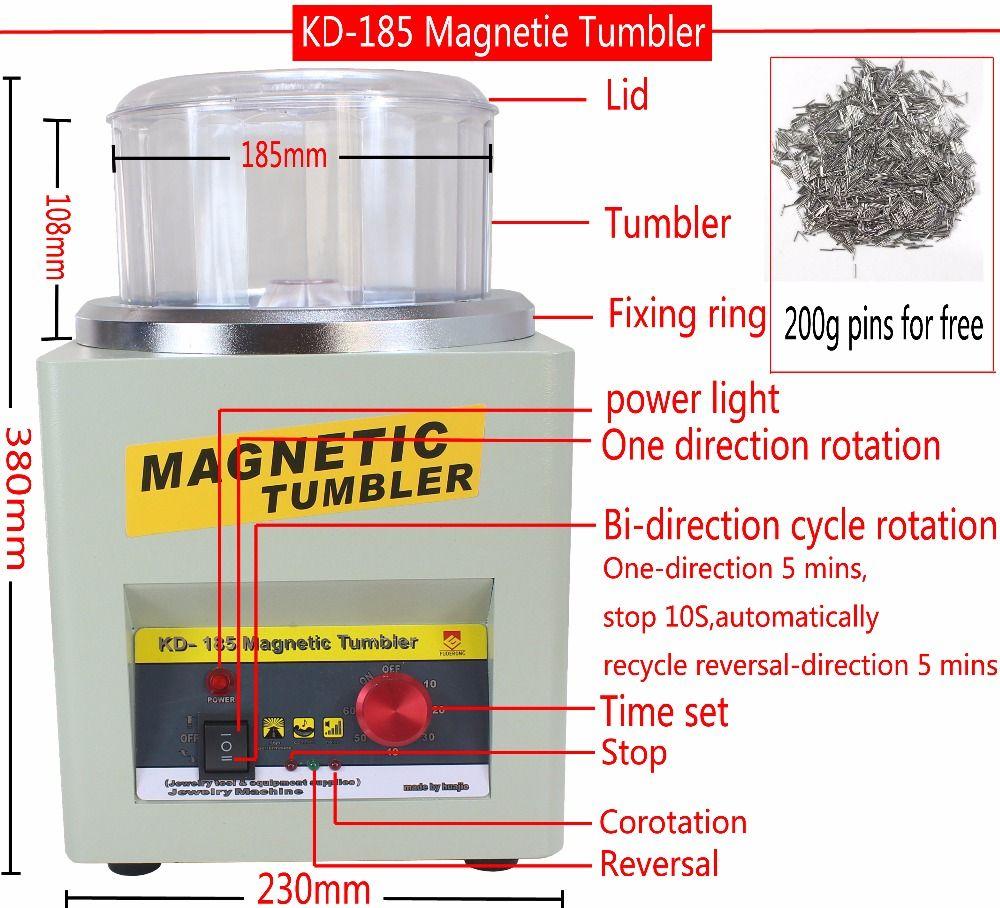 Hersteller!!! KD/KT-185 Magnetic Tumbler Schmuck Polierer Finisher Finishing Maschine, Magnetische Polieren Maschine AC 110 V/220 V