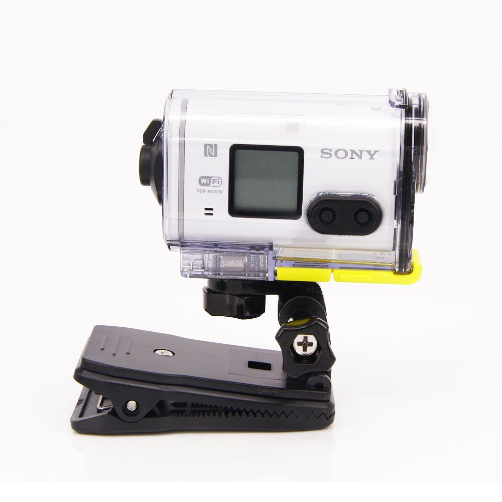Pince à bandoulière clip sac à dos pour Sony Action Cam HDR AS20 AS15 AS100V AS30V AZ1 AS200V FDR-X1000V accessoires aee