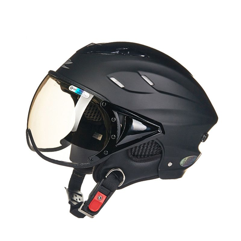Summer motorcycle helmet Electric bicycle helmet Vintage <font><b>Scooter</b></font> half helmet Moto casco Men/women's E-bike capacete