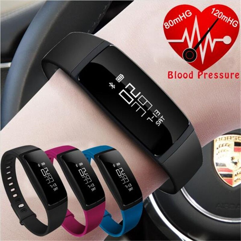 V07 Smart Wristband Band Heart Rate Monitor Blood Pressure Bracelets Fitness Tracker SmartBand For Android iOS vs fibit miband 2