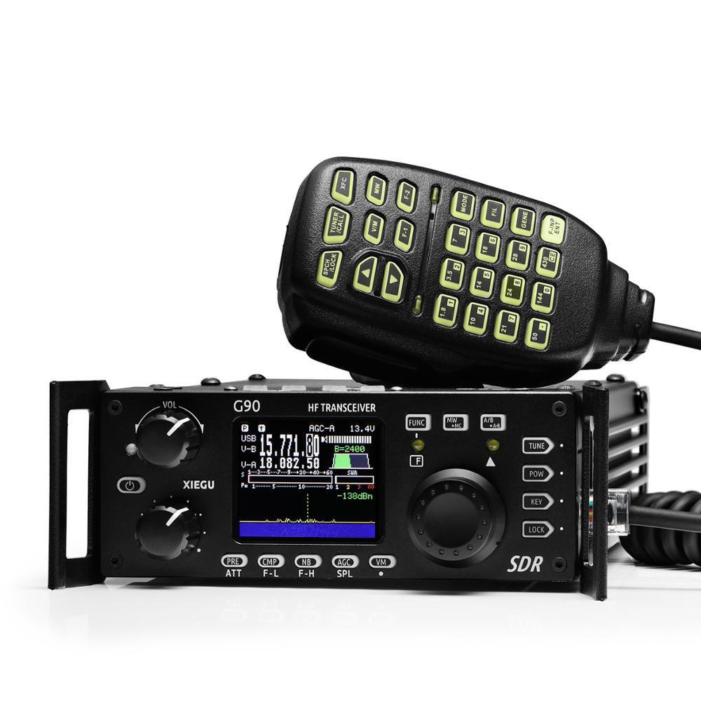 2019 NEUE Xiegu G90 QRP HF Transceiver mit Eingebaute Auto Antenne Tuner Amateur Radio 20W SSB/CW/ AM/FM 0,5-30 MHz SDR Struktur