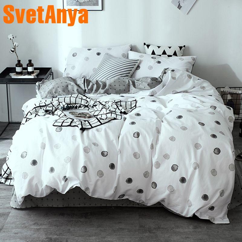 Svetanya Leaves Printed Sheet Pillowcase Duvet Cover Sets 100% Cotton Bedlinen Twin Double Queen King Size Bedding Set