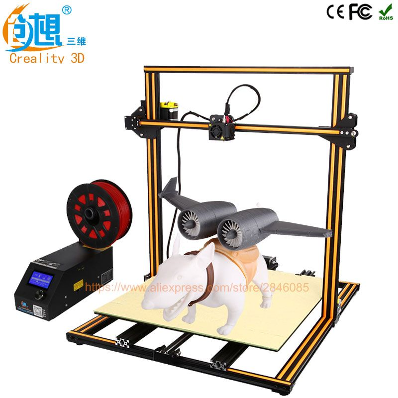 Creality 3D Official Upgrade Version CR-10 4S Dual Z rod+resume print after power off +Filament detect/sensor 3D Printer Kit