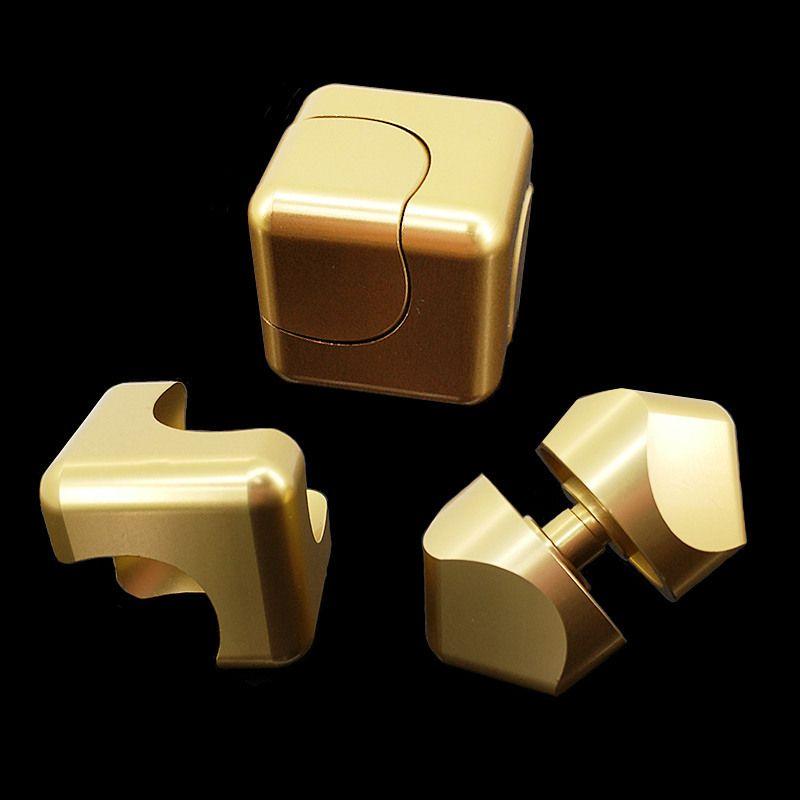 Spinner Cube EDC Anti-Stress Cuber Mini doigt carré Spinner jouets pour autisme et tdah Puzzle cadeau pour adulte TH0074