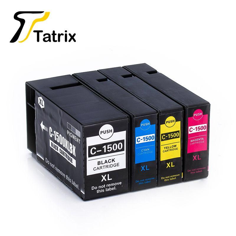Ensemble complet 4 Couleur pour PGI-1500XL Pigment Cartouche D'encre Compatible pour Canon Imprimante MAXIFY MB2050/MB2350