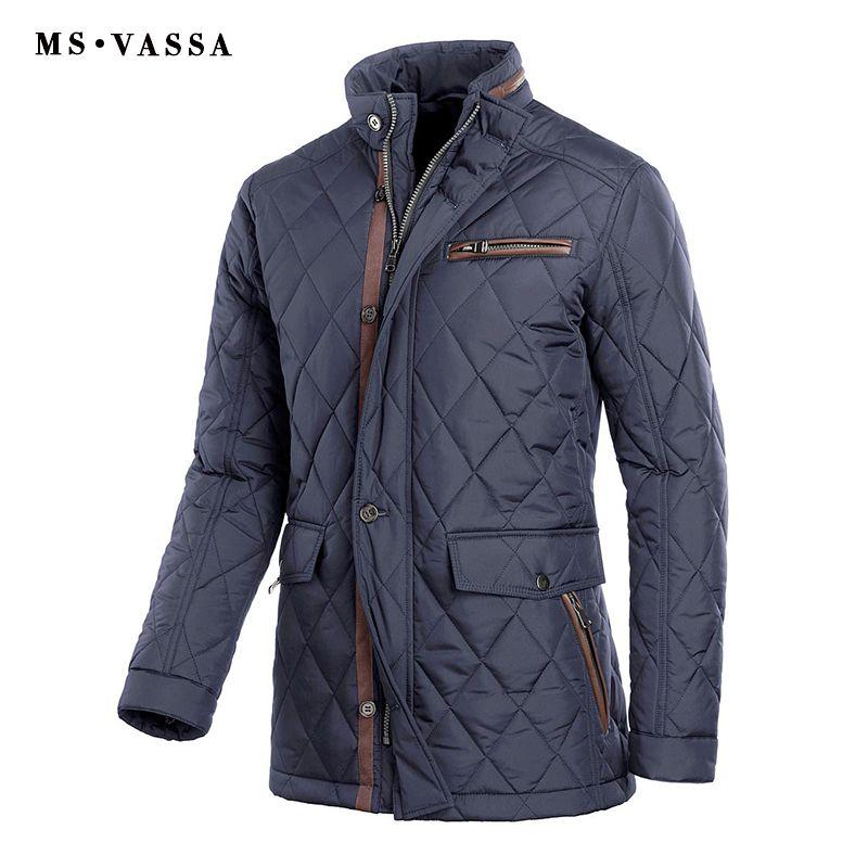 MS VASSA 2018 Neuheiten Plus Größe Winterjacke Männer Parka Polsterung Warm Stehkragen Beiläufige Oberbekleidung Padded Mantel 4XL-11XL