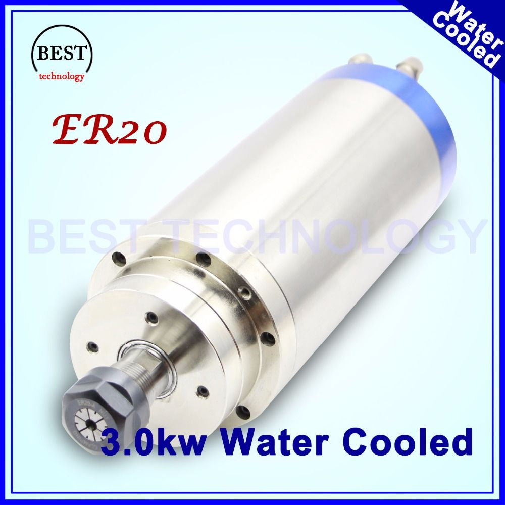 CNC Wood working 220v ER20 3.0kw Water-cooled spindle 3kw spindle motor water cooling engraving spindle for woodworking machine