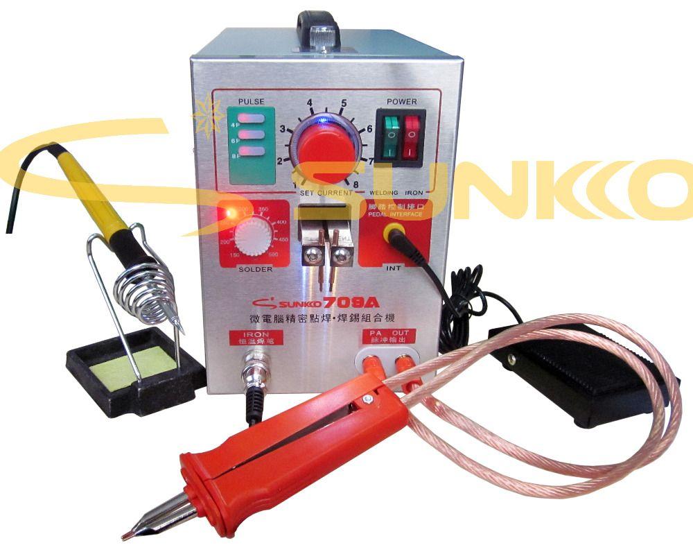 220 v/110 v 1.5KW SUNKKO 709A Batterie Spot Schweißer mit HB-70B Schweißer stift für 18650 SCHWEIßEN STATION Spot schweißen Maschine