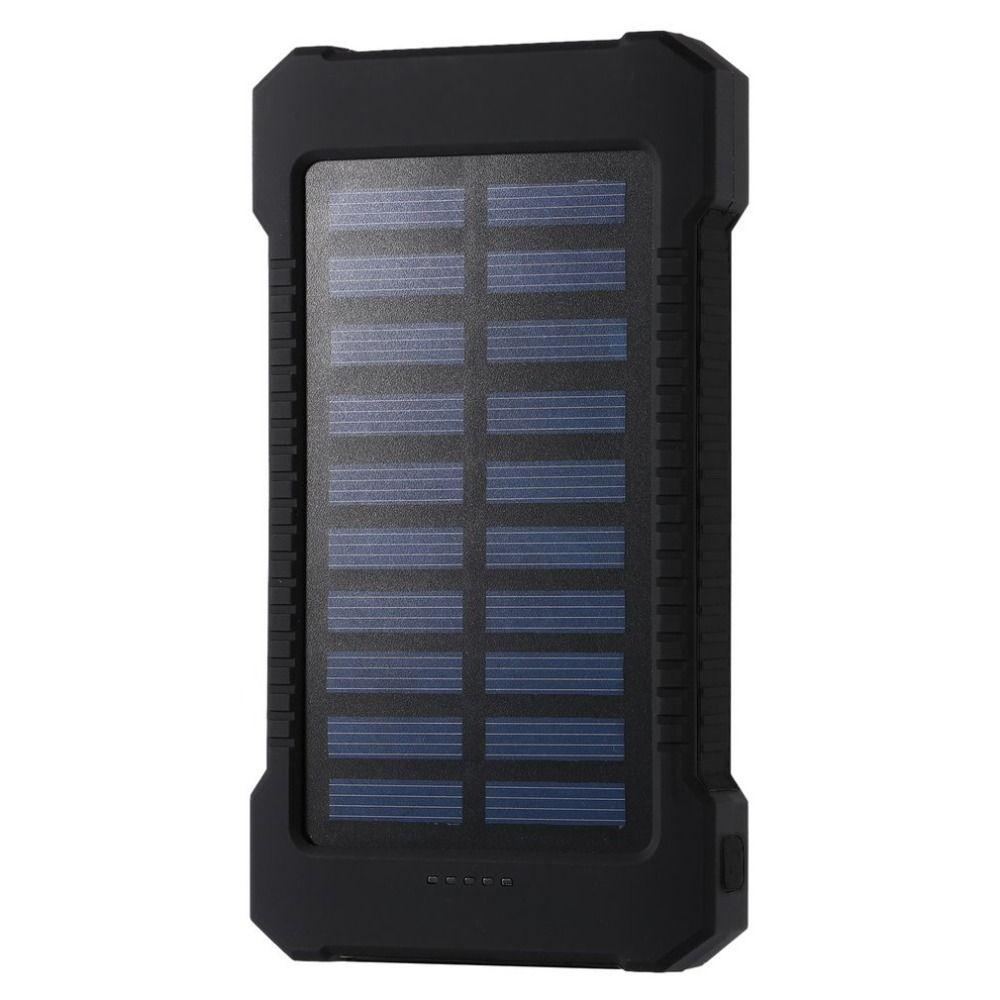 Batterie portable solaire 30000 mah étanche externe batterie de secours Powerbank 30000 mah téléphone batterie chargeur LED Pover banque livraison gratuite