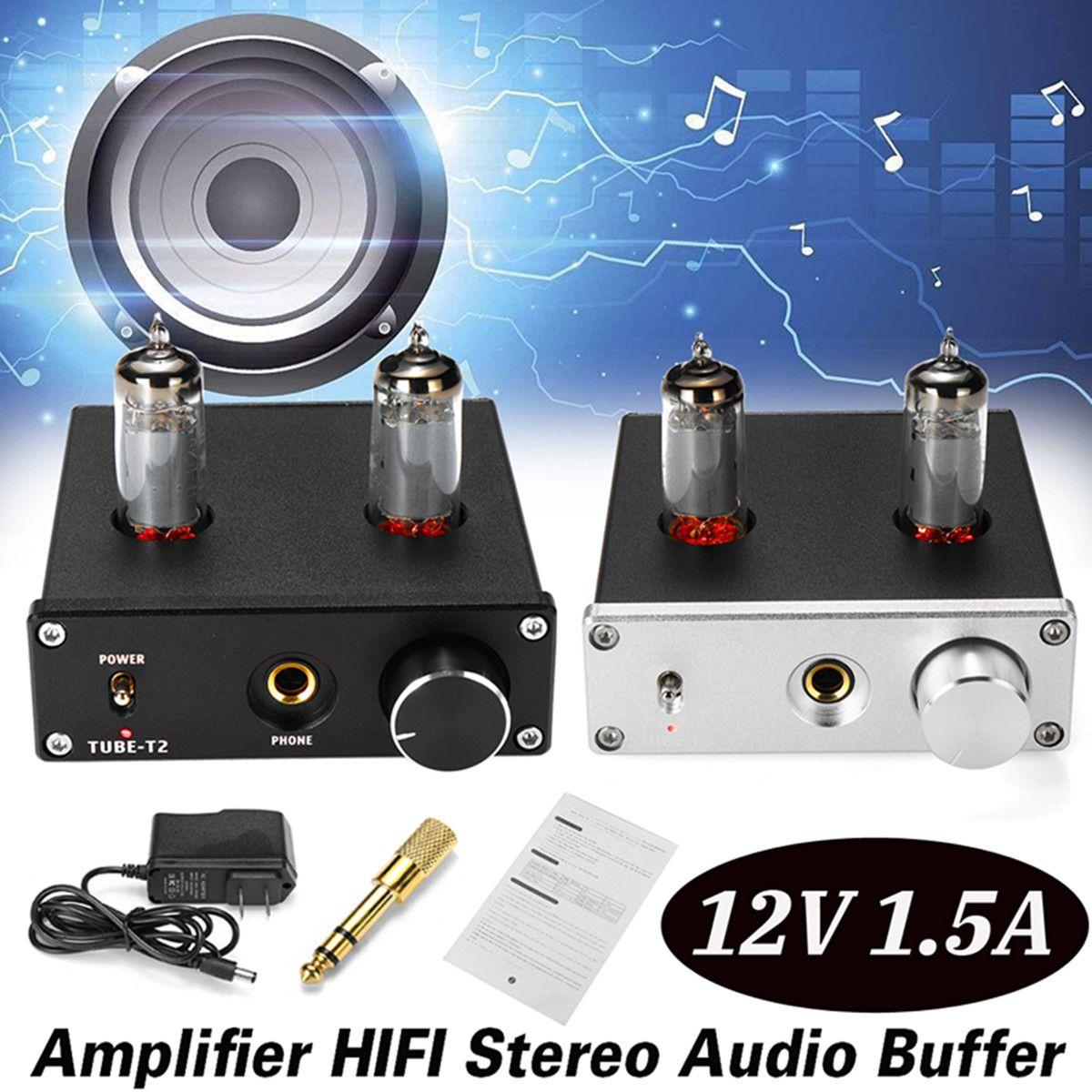 Amplifier HIFI Stereo Audio Buffer 12V 1.5A 6K4 Vacuum Tube Preamplifier Desktop Amplifier Home Video