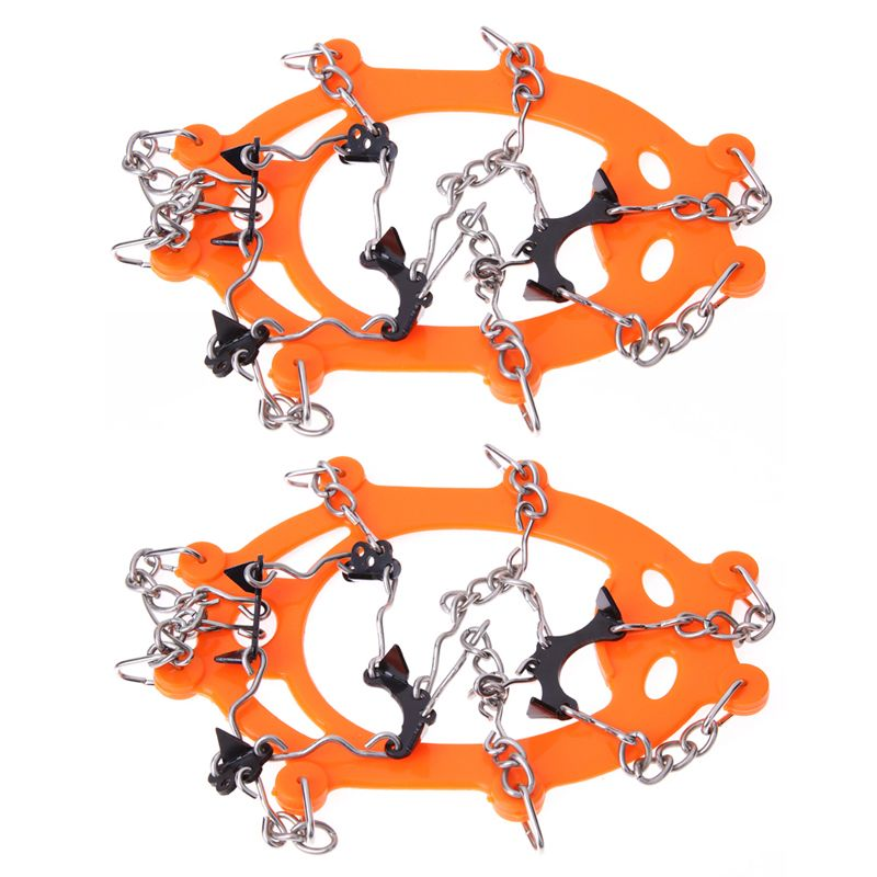 Anti Slip Ice Cleats Shoes Boot Grips Crampon Chain Spike Sharp Outdoor Snow Walker Climbing Ice Gripper crampones Snow chains