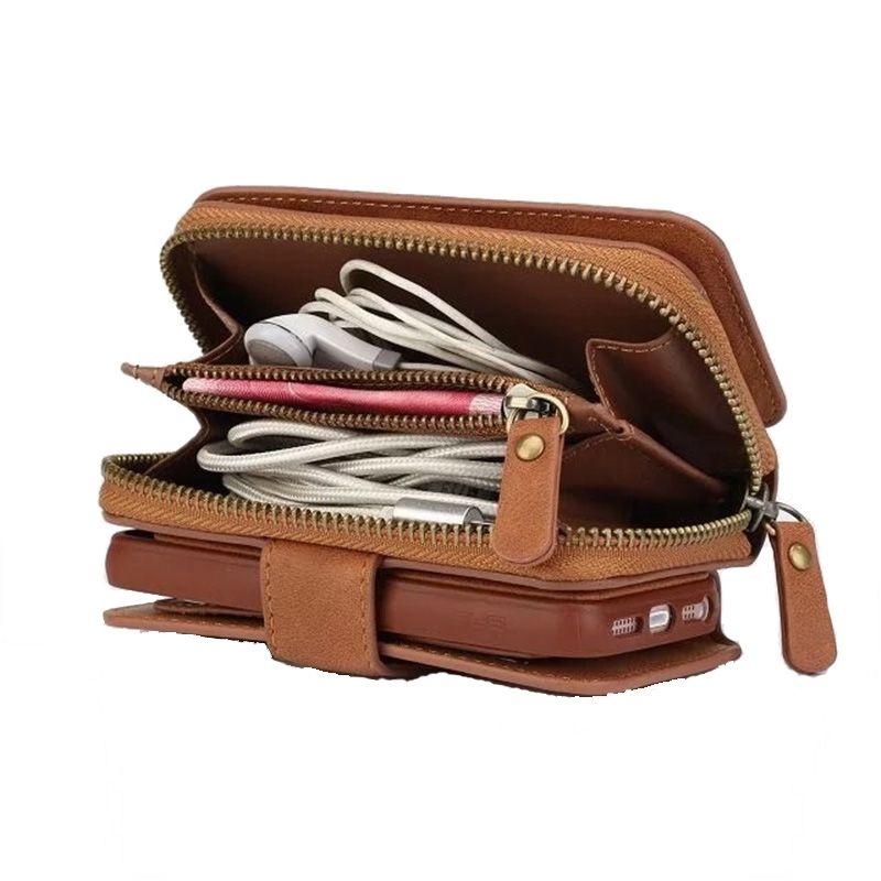 Für Samsung S4 S5 S6 S7 KANTE ANMERKUNG 4 NOTE5 S8 multifunktions Brieftasche Ledertasche Reißverschluss Geldbörse Pouch Phone Cases Dame Handtasche abdeckung