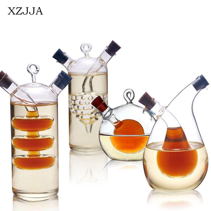 Bouteilles de vin de stockage en verre d'assaisonnement scellées de pot en verre de Sauce de bouteille d'huile et de vinaigre à hautes températures d'épice pour la barre