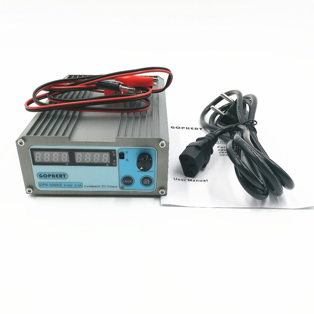 New CPS-3205 II 160W (110Vac/ 220Vac) 0-32V/0-5A,Compact Digital Adjustable DC Power Supply