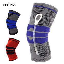 1Pcs New Weaving Silicone Knee Pads Supports Brace Volleyball Basketball Patella Protectors Sports Safety Kneepads Knee Pads