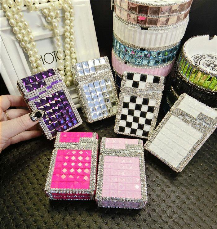 Pitillera портсигар инструмент дым алмаз автоматический портсигар, 20 обычных алмазов пакеты милые портсигар алюминиевая коробка
