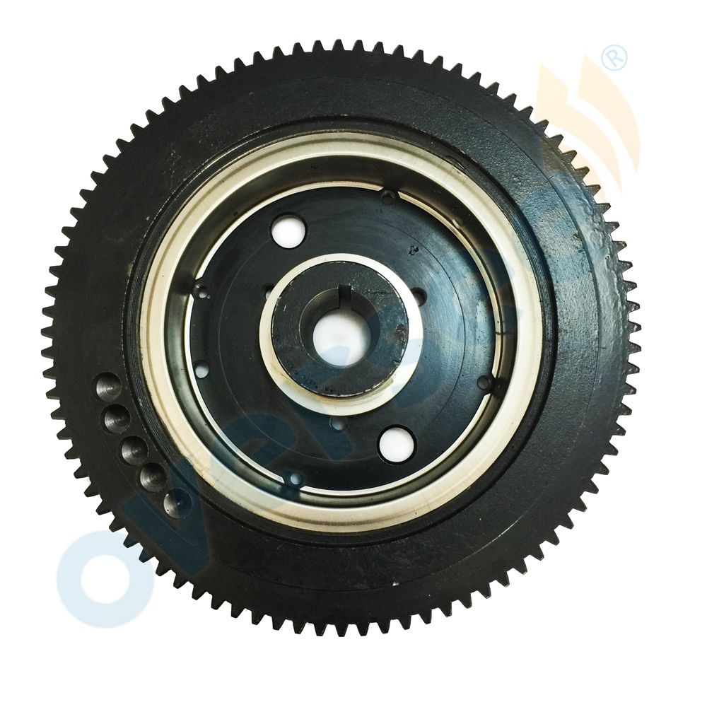 OVERSEE 66T-85550-10 Outboard Flywheel E40X 40XMH Rator Replaces For 40HP 2stroke Electric For Fits Yamaha FlywheParsun Outboard