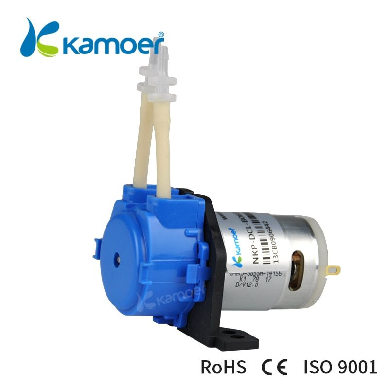 Kamoer NKP petit débit et pompe péristaltique basse pression avec alimentation (5.2 ~ 90 ml/min, 3 rotors, quatre couleurs)