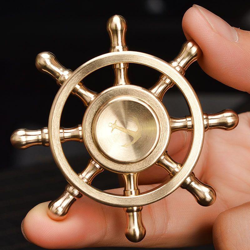 Fidget Piratas del Caribe de Mano de Metal Spinner Spinner Autismo Adulto Anti Estrés Aliviar El Estrés Tri-spinner Rueda