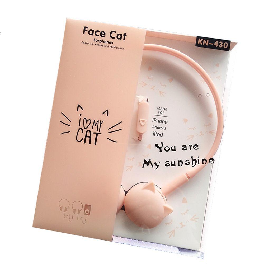 Nette Katze Farbige Stereo Rosa Kopfhörer Headset Kopfhörer für Samsung Xiaomi mp3 Kinder Student Geburtstag Geschenke Mit kleinkasten