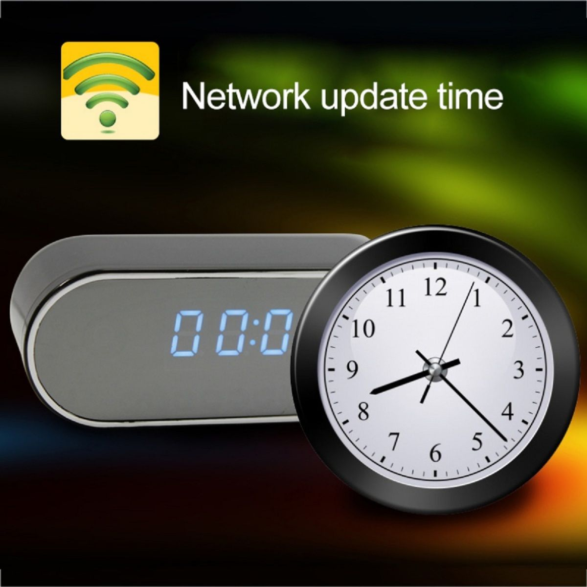 JRGK 1080P HD Uhr Kamera WIFI Steuer Verdeckte IR Nacht Ansicht Alarm Camcorder PK Z16 Digitale Uhr Video Kamera mini DV DVR
