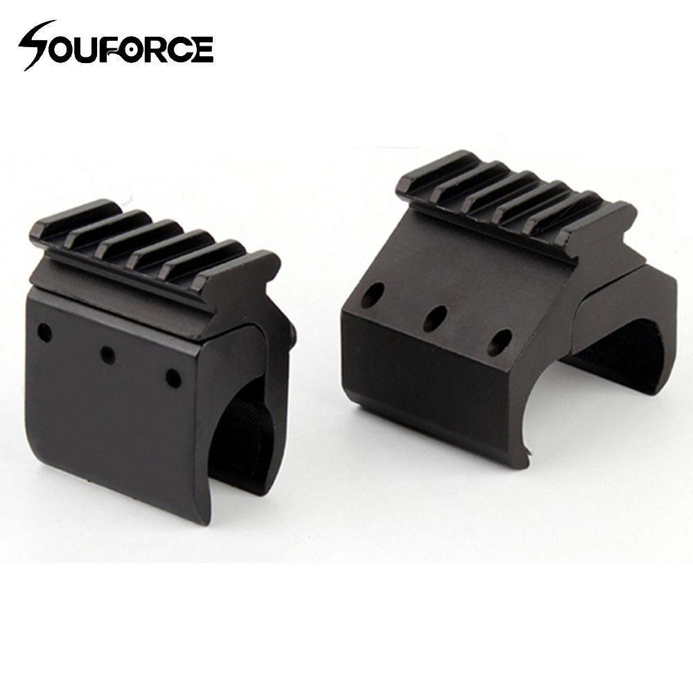1 pc 2 Styles simple/Double Tube fusil de chasse Picatinny Rail adaptateur pour 20mm Rail montage chasse accessoires tactiques