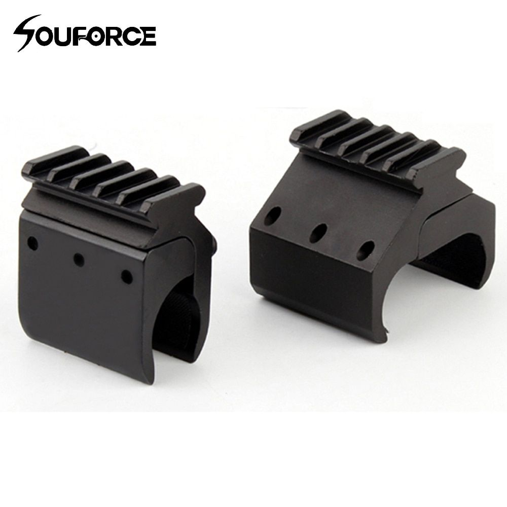 1pc 2 Styles Single/Double Tube Shotgun Picatinny Rail Adaptor for 20mm Rail Mount Hunting Tactical Accessories