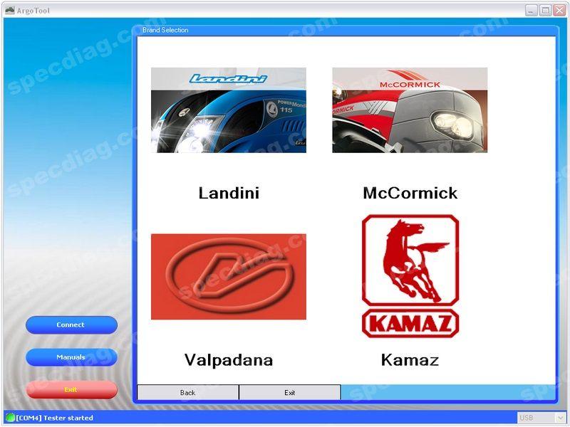 ArgoTool 3.3.0.2 DIAGNOSTIC SOFTWARE For Landini\McCormik\Valpadana