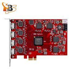 Siaran TV Hot Penawaran TBS6304 Quad HDMI HD Capture untuk IPTV Server