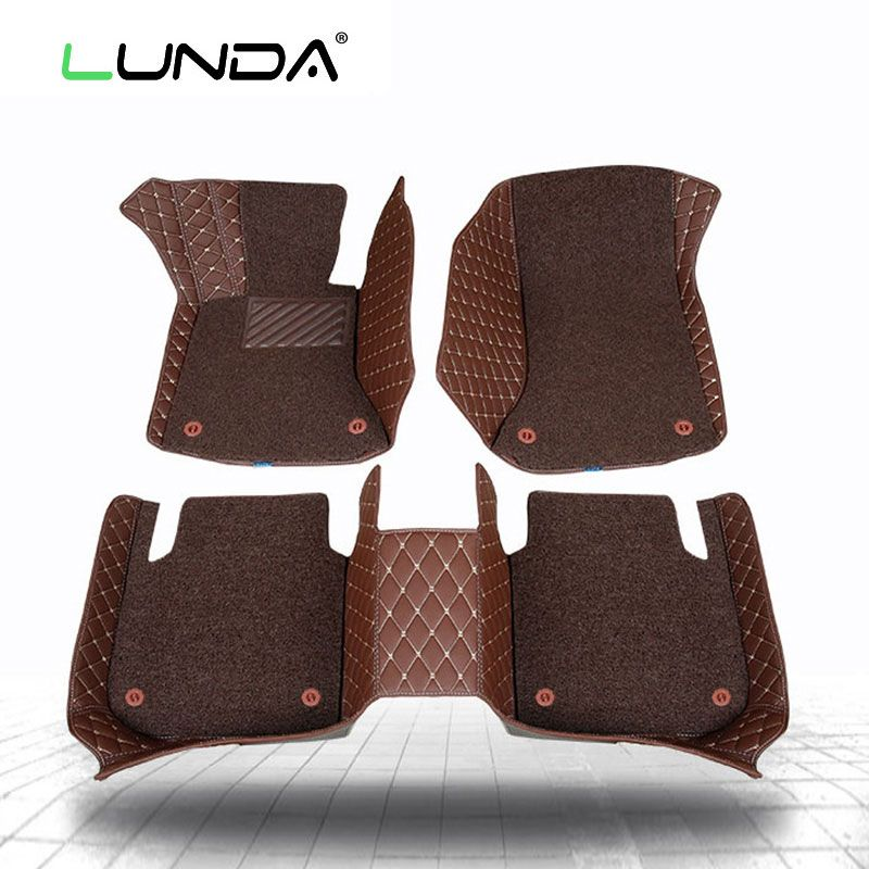 Car floor mats 3D forToyota hilux Navarre fit Ford ranger for Mazda BT50 for Mitsubishi Triton LC200 two layers of car-styling