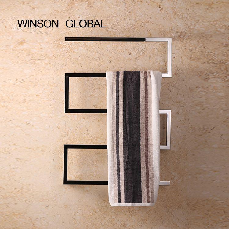 electric towel rack, 304 stainless steel electric towel holder, square tube, heated towel warmer rail rack ICD60046