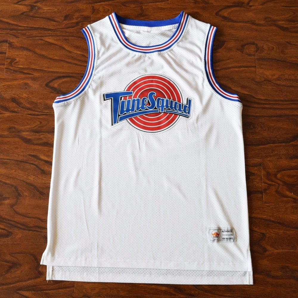 MM MASMIG Wholesale Space Jam Basketball Jersey Stitched White for Drop Shipping