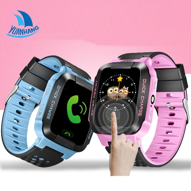1.44 Touch Screen Smart Safe GPRS Real-time Tracker Location SOS Call Remote Monitor Flashlight Watch Wristwatch for Kid Student