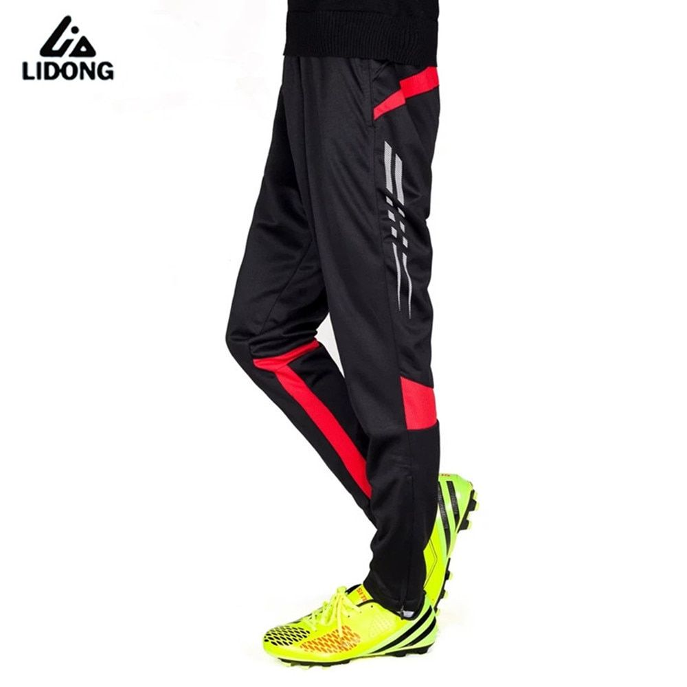 New Men Running Pants Football Soccer Training Pant Active Jogging Trousers Sports Leggings Track GYM clothing Mens Sweatpants