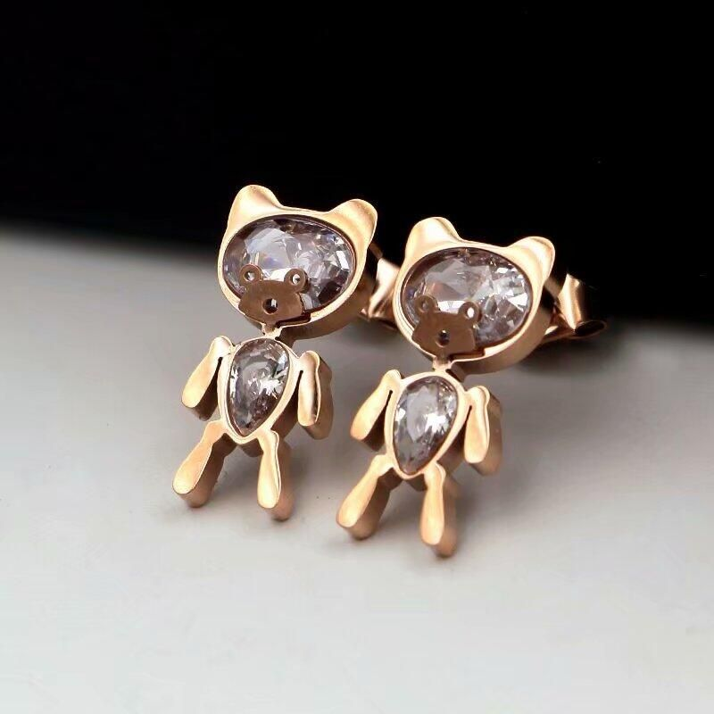 CH-116 Retro Lady Round Earrings Cubic Zirconia  Earrings Couples Luxury Round Earrings Men & Women Wholesale Gifts
