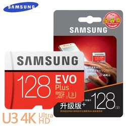 Карта памяти MicroSD SAMSUNG EVO + Micro SD 32 г SDHC 80 МБ/с. Класс Class10 слот для карт памяти C10 UHS-I TF/SD карты Модуль памяти Transflash карты памяти SDXC 64 Гб 128 Бесплатн...