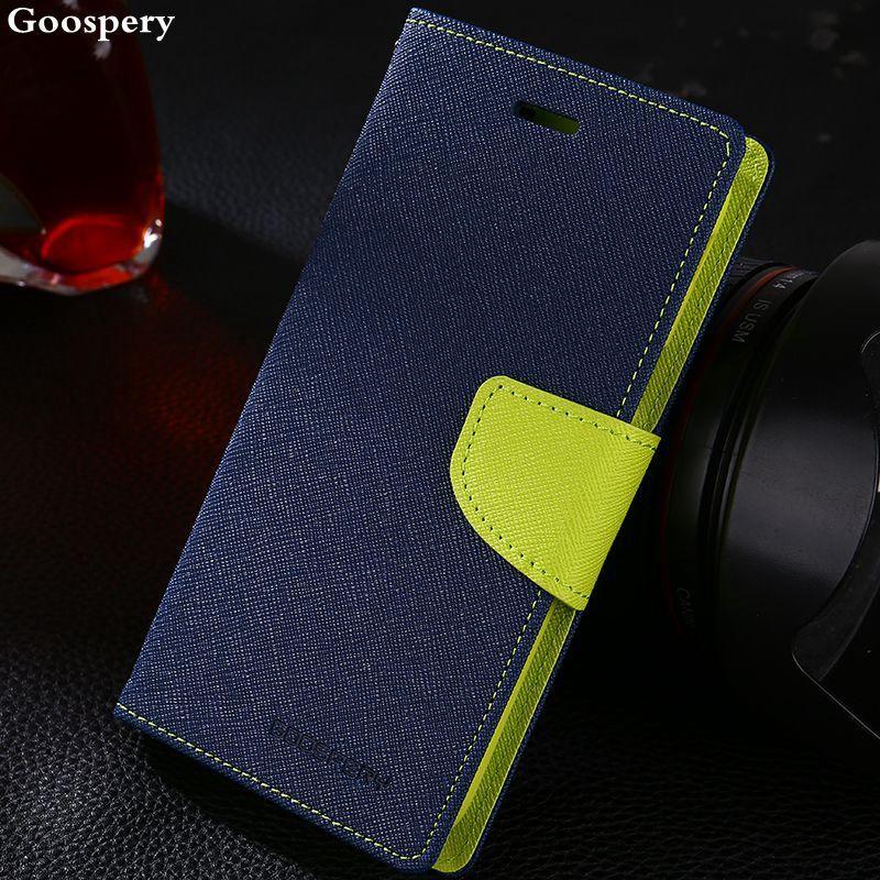 Original Goospery Double Color Leather Flip Case Cover For Samsung Galaxy S4 S5 S6 S8 A3 A5 A7 J1 J3 J5 J7 2016 2017 Prime Cases