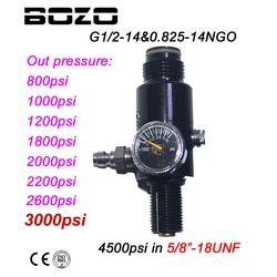 New Paintball PCP HPA 4500psi Compressed Air Tank Regulator Output Pressure 800/1000/1200/1800/2000/2200/2600psi Tank 5/8