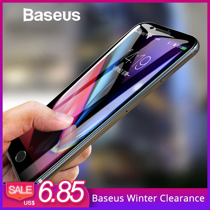 Baseus 5D Screen Protector Für iPhone 7 8 Gehärtetem Glas Voll Screen Anti Blau Licht Front Glas Für iPhone 7 plus 8 Plus Glas