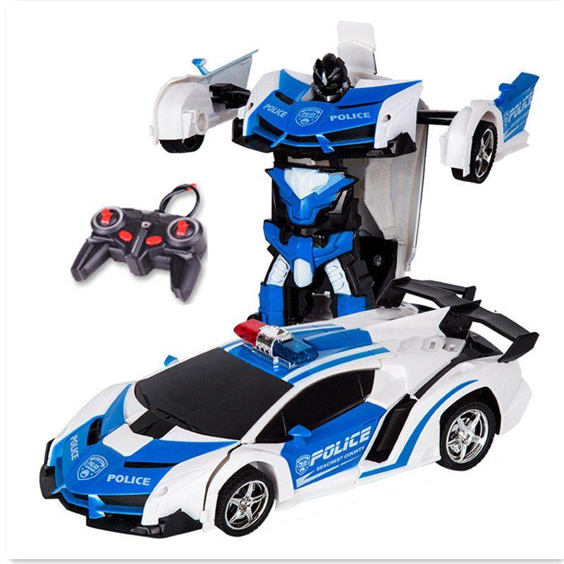 RC игрушки автомобиля Дистанционное управление трансформации роботы игрушки деформации игрушки RC спортивный модель автомобиля для детей п...