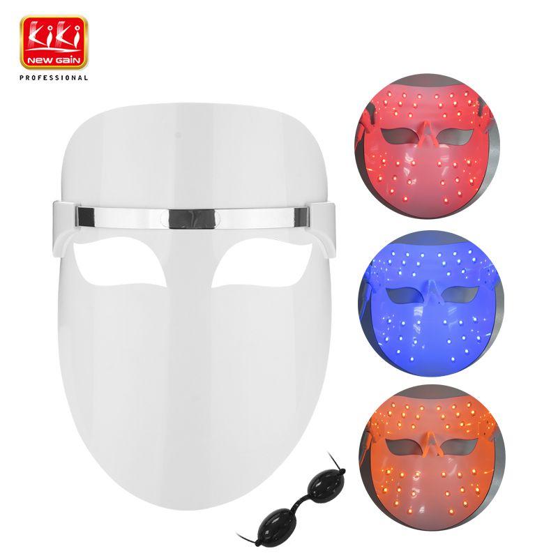 2017 KIKI 32 Led Masque Facial Rouge bleu orange couleur Photon Électrique Peau PDT Stimule la circulation sanguine Soulage le stress sur peau