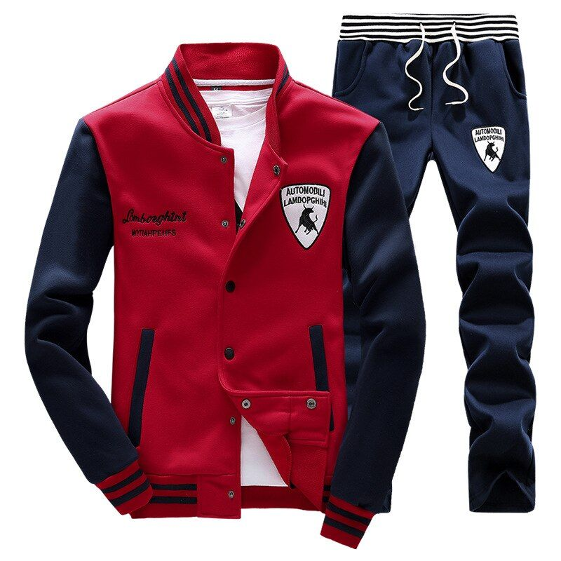 High Quality Men's  Suits Spring Autumn Winter New Pattern Male Sweat Suit Long Sleeve Baseball Man Pants Top Set