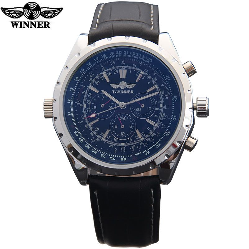 HOT watches men top luxury brand TWINNER sports army military automatic mechanical wristwatches leather strap relogio masculino