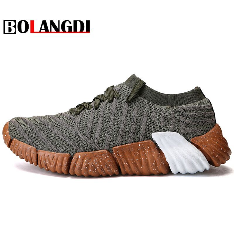Bolangdi 2018 New Ultra-Light Flywire Mesh Breathable Men Running Shoes Athletic Shoes Trainer Sport Shoes Man Outdoor Sneakers