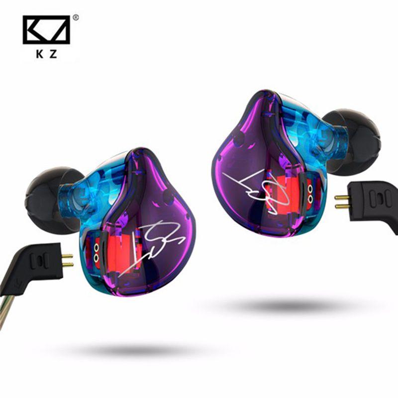 Original KZ ZST 1DD+1BA Hybrid In Ear Earphone Balanced Armature HIFI DJ Monito Running Sport Earphones Earplug Headset Earbud