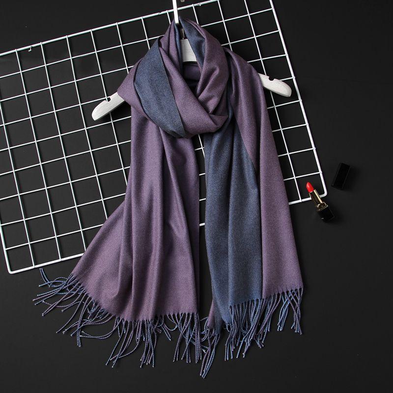 2018 <font><b>winter</b></font> women scarf fashion solid soft cashmere scarves for ladies pashmina shawls and wraps bandana female foulard Tassel