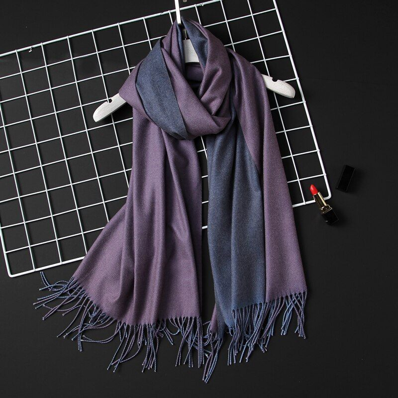 2018 winter women scarf fashion solid soft cashmere scarves for <font><b>ladies</b></font> pashmina shawls and wraps bandana female foulard Tassel
